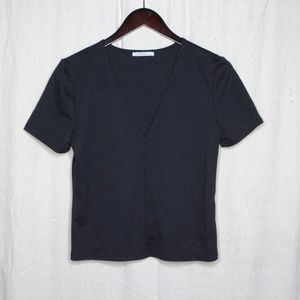 Zara V-Neck ponte t shirt